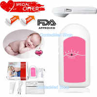 BABY SOUND A Pocket fetal doppler Prenatal Baby Heart Beat Monitor,Care Baby Healthy (Blue or Pink)Option