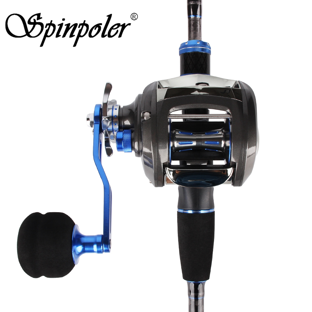 New Saltwater Baitcasting Reel Right Left Hand Baitcaster 12+1 Ball Bearings 7.0:1 Super Power Oversized Handle Fishing Reels-in Fishing Reels from Sports & Entertainment    1