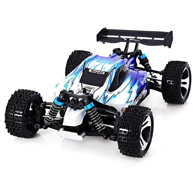 High Quality A959 Rc Car 50Km/H 1/18 2.4Gh 4WD Off-Road Buggy Rc Car Remote Control Toys for Children-Blue high quality g18 2 1 18 2 4g four wheel drive high speed off road remote control car children boy kid gift collection toys hot