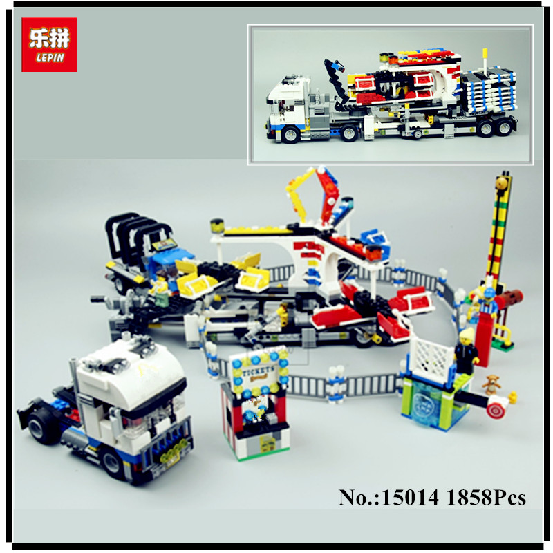 IN STOCK LEPIN 15014 1858Pcs Amusement park The carnival Model Building Blocks Set Compatible CREATOR 10244 Architecture toys lepin 15014 1858pcs amusement park carnival model building kits blocks bricks creator legoinglys 10244 architecture toys gift