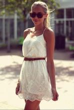 2016 lace chiffon sexy dresses beach sundress hippie tunic moda praia maxi dress party lentejuelas women's clothing