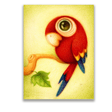 Bird Animal Childrens Bedroom Decoration Painting  Canvas Unframed Modern Hand Painted wall Art Poster .Free Shipping