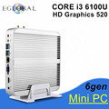 [6Gen Intel Core i3 6100U] 2016 Eglobal Новый Skylake ПК Мини-Компьютер 4 К HTPC Intel HD Graphics 520 Игровой ПК Ультра Nettop