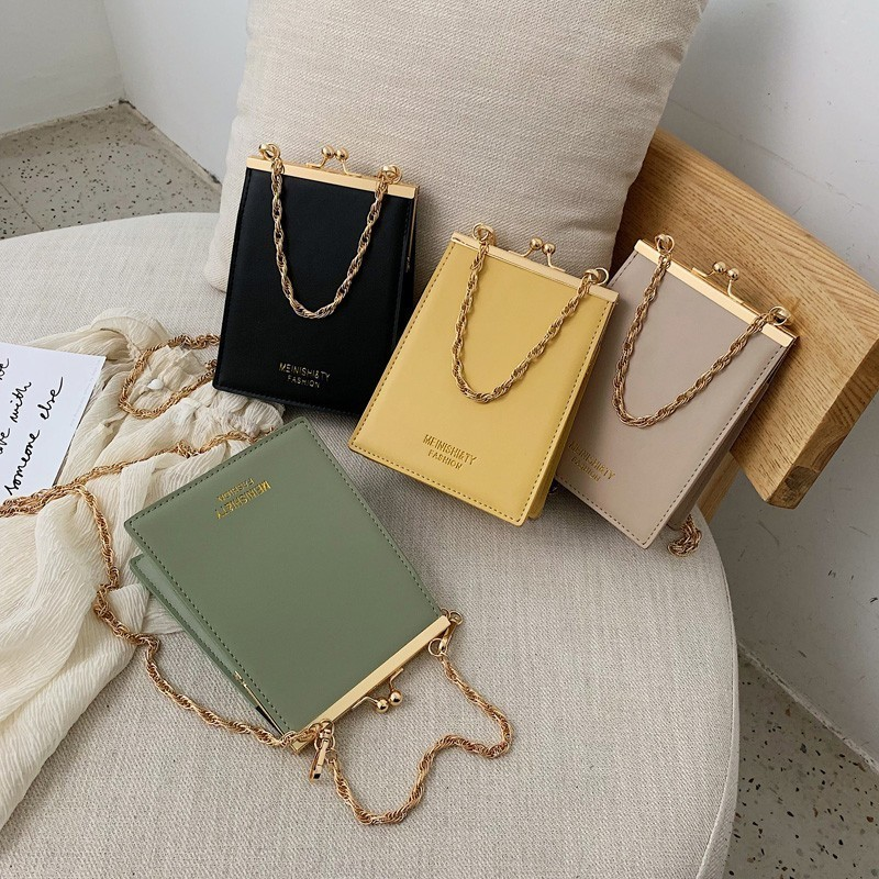 Crossbody-Bags Chain Purse Hasp-Day-Clutches Bags Designer Small Fashion Women Ladies