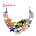 2016 New Luxury Beautiful Maxi Necklace Colorful Enamel Rhinestone Butterfly Ladybug Flower Big Choker Necklace Boho Jewelry