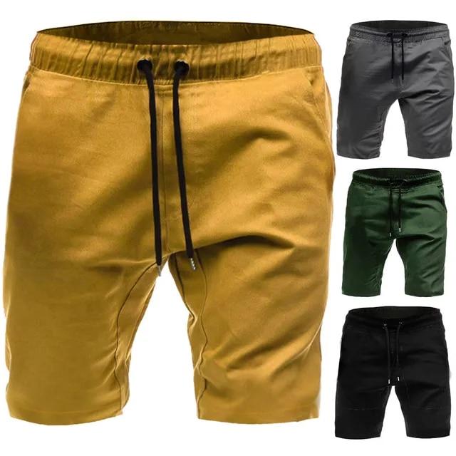 Men Summer Casual Elastic Sport Solid Baggy Pockets Short Pant Summer Shorts Men Shorts Breathable Male Casual Short 502