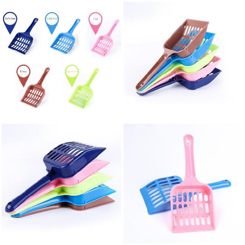 5 Pcs Plastic Pet Dog Puppy Cat Litter Scoop Cleaning Tool Pets Supplies Sand Waste Scooper FP8
