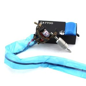 Image 4 - Pro 100pcs Medical Blue Plastic Tattoo Machine Clip Cord Sleeves Covers Bags