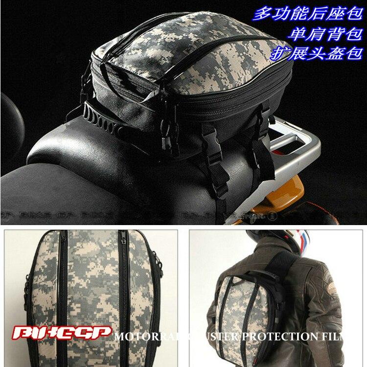 Bikegp Gp968 Motorcycle Tail Bag Luggage Bag Backseat Bag Helmet Package Waterproof Cover Camouflage Agreeable To Taste