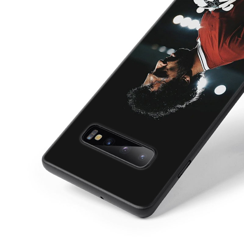 For Samsung Galaxy M30 M20 M10 Note 9 8 S10 S10e S9 S8 Plus S7 S6 Edge Black Silicone Case Mohamed Salah Style in Fitted Cases from Cellphones Telecommunications