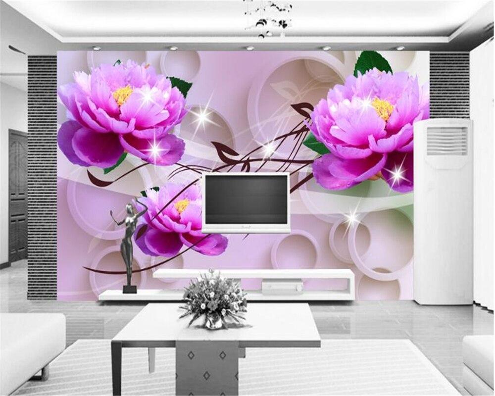 Stoff & Textile Wandbekleidungen Heimwerker Wand Papier Custom Foto Wandbild 3d Nordic Moderne Rosa Europäischen Muster Für Wohnzimmer Wand Dekor Malerei Papel De Parede 3 D