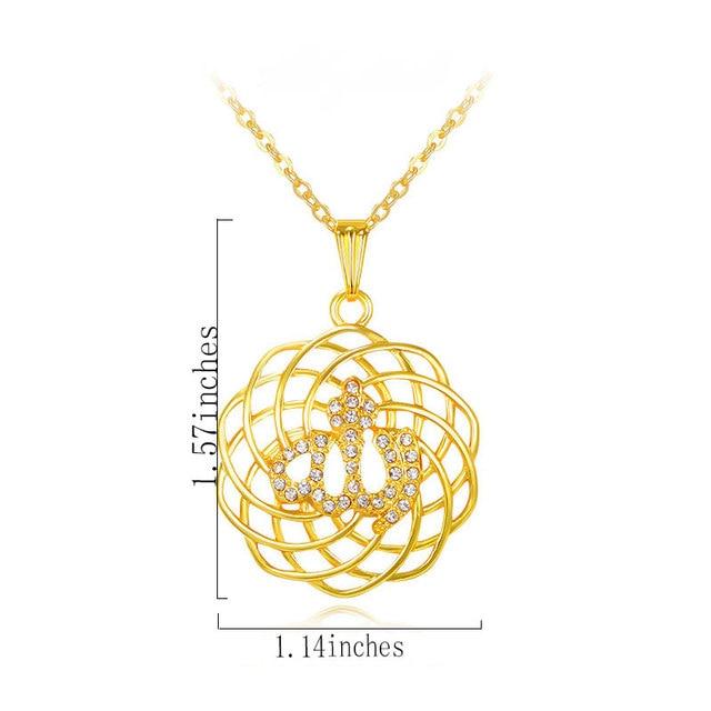 islam gorjuss allah muslim islamic fine jewelry necklace Fashion Gold Color Necklaces Pendants pendant fashion crystal jewellery 1
