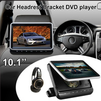 Car Headrest DVD Player 10.1 inch Touch Screen with USB HDMI FM Transmitter Game Disc Remote IR Headphone