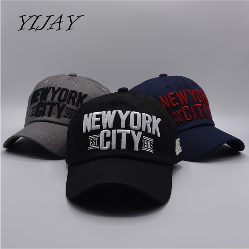 3e5a059574a Denim Solid Blue Jeans NEW YORK City 1985 American Flag Baseball Hat ...
