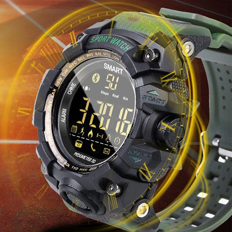 Sports Smart Watch Men Camouflage Smart Watch Running Bluetooth Watch Men Alarm Clock Stopwatch Casual Sportwatch For Outdoor все цены
