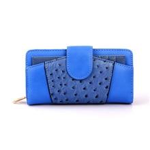 New Trend 2017 Girls PU Leather-based Purses & Wallets Luxurious Model Zipper Feminine Clutch Pockets Multifunction Girls Cash Bag