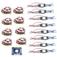 JMT 8 sets 350KV Brushless Disk Motor High Thrust W/ Mount + 40A ESC for 3-6s Octacopter Multi Rotor F05423-B