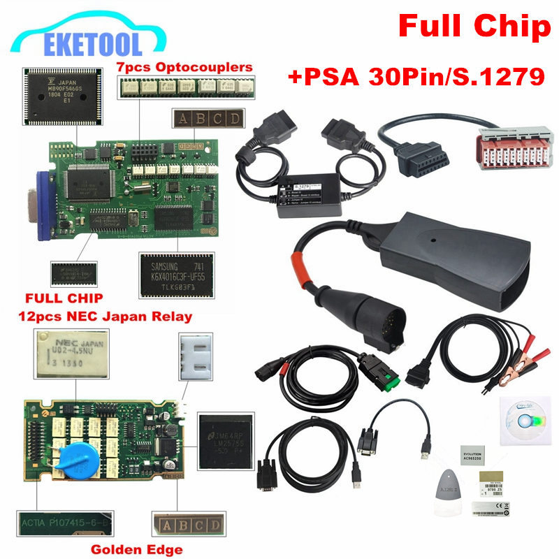 Lexia3 Full Chip Add PSA 30Pin S.1279 Full Package New Diagbox V7.83 Lexia V48 PP2000 V45 For Citroen/Peugeot Lexia-3 Free Ship