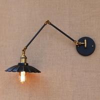 로프트 블랙 산업 금속 빈티지 벽 램프 e27 라이트 sconce 조정 가능한 긴 스윙 암 작업실 침대 옆 침실 바|벽걸이 조명등.|등 & 조명 -