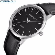 CRRJU New Top Luxury Watch Men Brand Mens Watches Ultra Thin Stainless Steel Mesh Band Quartz Wristwatch Fashion casual watches