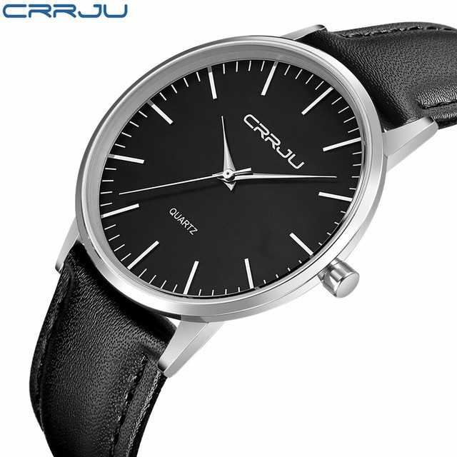 41bd41c3114 CRRJU New Top Luxury Watch Men Brand Men s Watches Ultra Thin Stainless  Steel Mesh Band Quartz Wristwatch Fashion casual watches