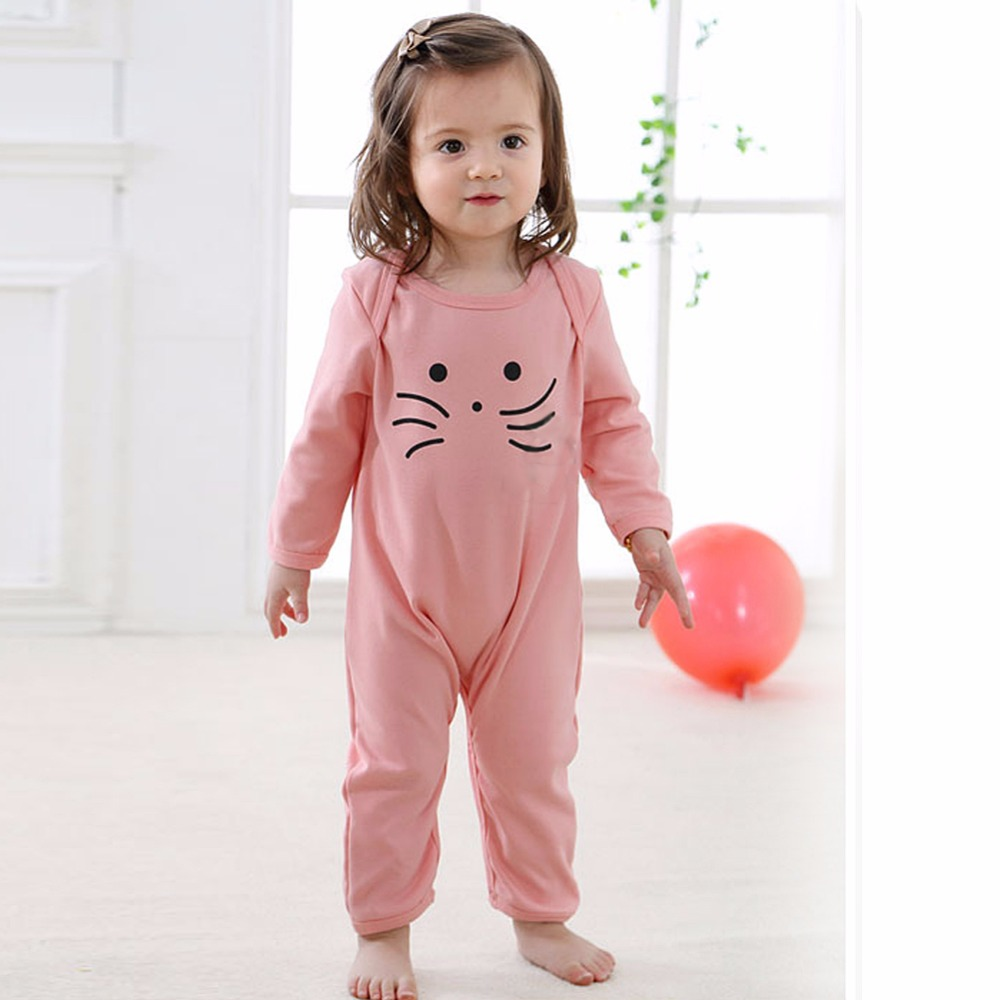 Long Sleeve Infant Jumpsuits Newborn Baby Girls Clothing Baby Girl Romper Clothes ...