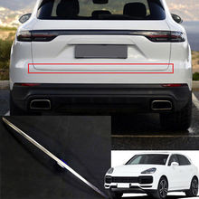Steel Rear Trunk Lid Tailgate Door Cover Trim 1pcs For Porsche Cayenne 2018-2019 1pcs for bmw body door tailgate tail cover rear cover plug connector used