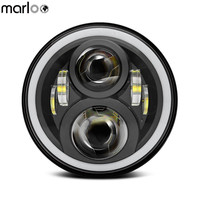 Marloo Harley Headlight Led 7 Motorcycle Headlamp For Harley Road King Road Glide Street Glide Electra Glide Ultra Limited