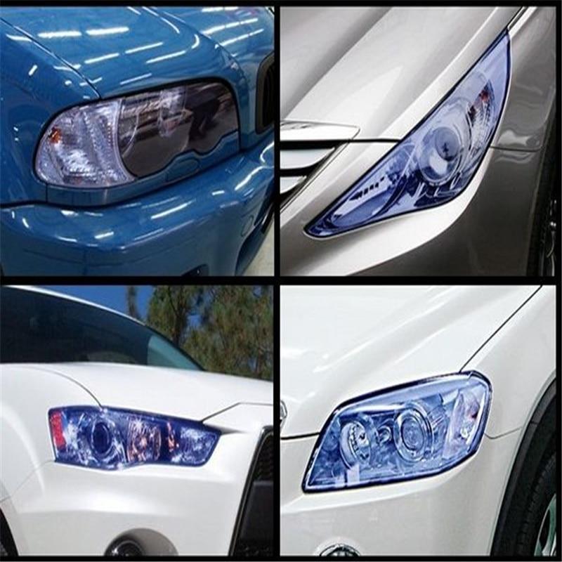 Car Stickers Frugal 30cm*800cm Car Lights Film Color Change Three Layer Fog Light Headlight Taillight Tint Vinyl Film Car Styling