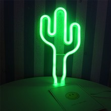 Night Lights Cactus Neon Lamp
