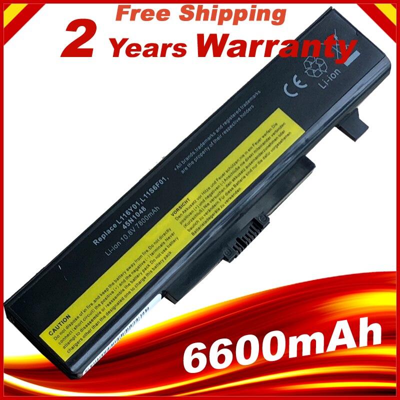 9 ячеек 6600mAh Аккумулятор для ноутбука LENOVO G580 Z380 Z380AM Y480 G480 V480 Y580 G580AM L11S6Y01 L11L6Y01
