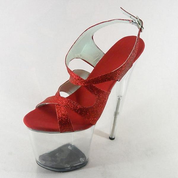 Plate forme Ultra Cheongsam Talons 8 Hauts Ouvert Chaussures Formelle À Pouce Robe Glitter 12 Clair 20 De Bout Cm Mariage Sandales 5 BqvpPWwFx