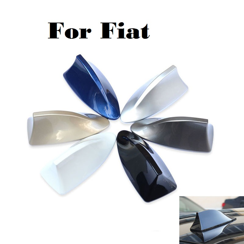 car styling Waterproof Car Shark Fin Antenna Antistatic Aerial Roof For Fiat 500 500X 600 Albea Barchetta Bravo Croma Linea 10led inside auto car solar powered led flashing car shark fin warning tail lights with controller universal aerial antenna ad