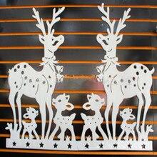 O Envio gratuito de 3 Veados Natal Adesivos Branco Adesivos de Parede Home Decor 2 Pçs/set Adesivo De Parede De Decoração Para Casa Natal