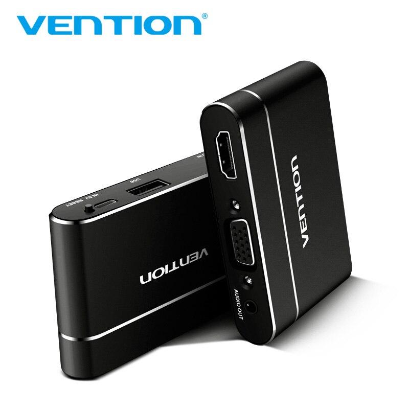 Convention USB à HDMI VGA Audio Vidéo Convertisseur 3 dans 1 USB Numérique AV Adaptateur Pour iPhone 8 Android USB audio Adaptateur Pour Samsung