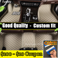 Good quality Custom car floor mats for BMW 5 series E39 E60 E61 F10 F11 F07 GT 520i 525i 528i 530i 535i 530d 3D carpet liners
