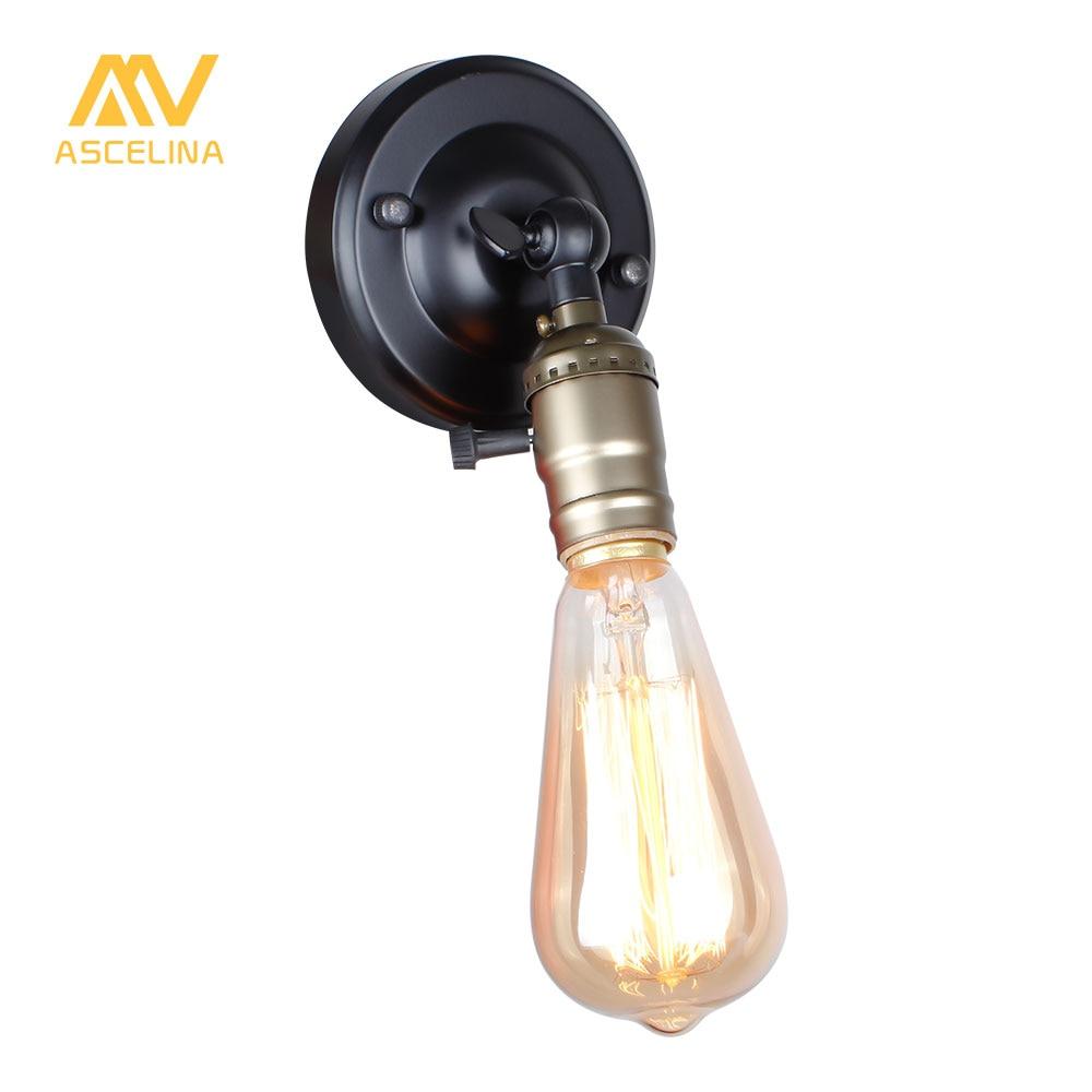 Настенный светильник Эдисон лампа мини-бра ручка переключателя Лофт кантри освещения Ретро Промышленность Винтаж гладить небольшой настенный Лампы для мотоциклов