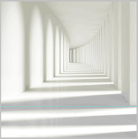 Photography Backdrops 12 X 12 Ft White Hallway Vinyl Digital Printing Cloth For Photo Studio Background