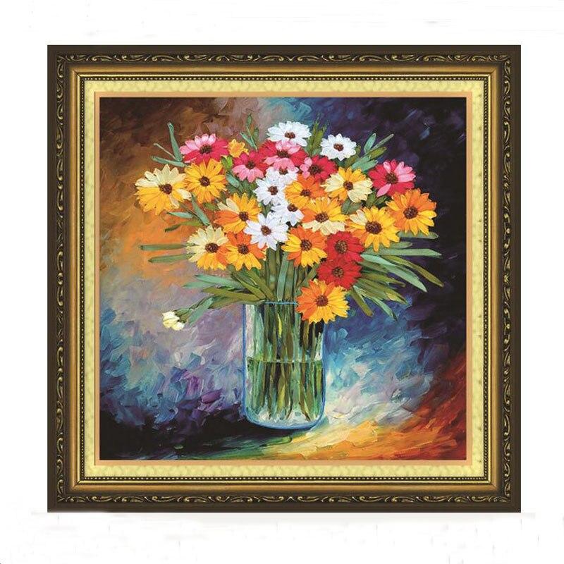 1 Pc 3d Diy Pastoralen Farbe Blumen Band Stickerei Für Anfänger Hand Kits Kreuz Stich Serie Kunst Handwerk Nähen Decor