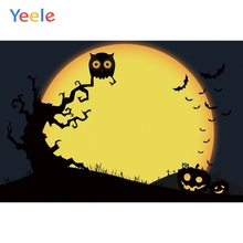 Yeele Halloween Party Moon Punpkin Decor Customized Photography Backdrops Personalized Photographic Backgrounds For Photo Studio