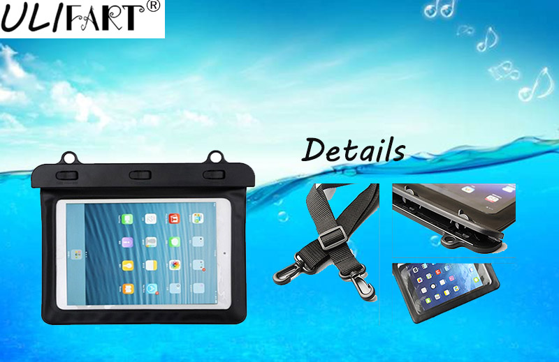 ULIFART 7-8''Waterproof Tablet Dry Bag Water Resistance Pouch Case Cover Protect