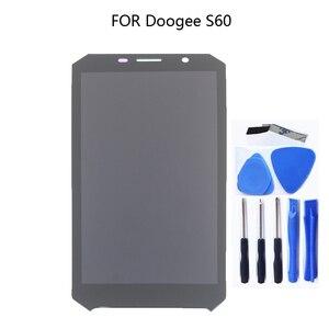 Image 1 - 5,2 zoll display für Doogee S60 S60 Lite LCD + touchscreen 100% getestet tablet komponente ersatz + freies verschiffen