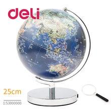 Deli стереоскопический 3d Глобус земли светодиодный светильник