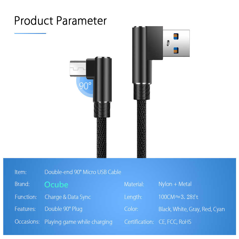 Kabel Micro USB Kablo 1 M 2 M 3 M Cepat Pengisian Data Sync Ponsel Android Charger Kabel Nilon untuk Samsung Xiaomi Xiomi Redmi 7
