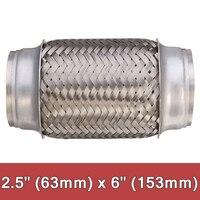 1pc carro tubo de escape flex dicas aço inoxidável solda comum tubo silenciador acessório