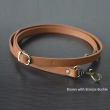 135CM Adjustable Leather Strap Handbag Shoulder Bag Belts Handmade Replacement Bronze Buckle Parts Accessories for Girl Tan