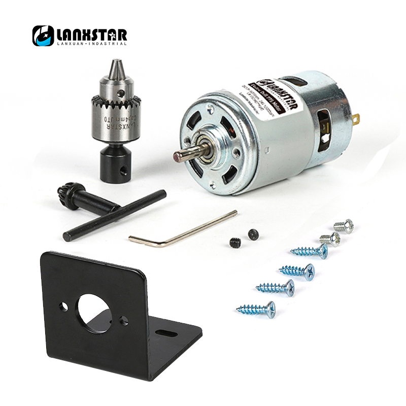 Lanxstar 775 Motor / Motor Bracket DC 10000rpm 775 Motor High Speed High Torque DC Motor Tool Electric