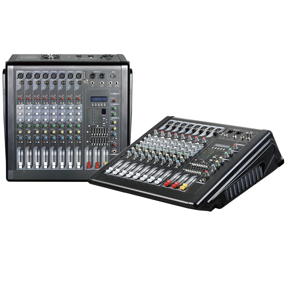 Mixing console recorder 48 V phantom power monitor AUX effect path 6 16 channel audio mixer