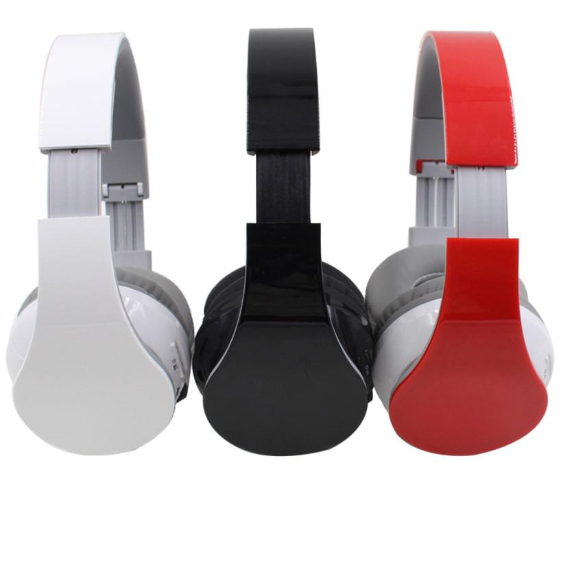 2018 hot sale fashion Wireless Bluetooth 4.1 Stereo Headset Earphone Headphone Micro SD/TF Card Player FM very good economic set original nia 8809s 8 gb micro sd card a set wireless headphone sport for tv with fm