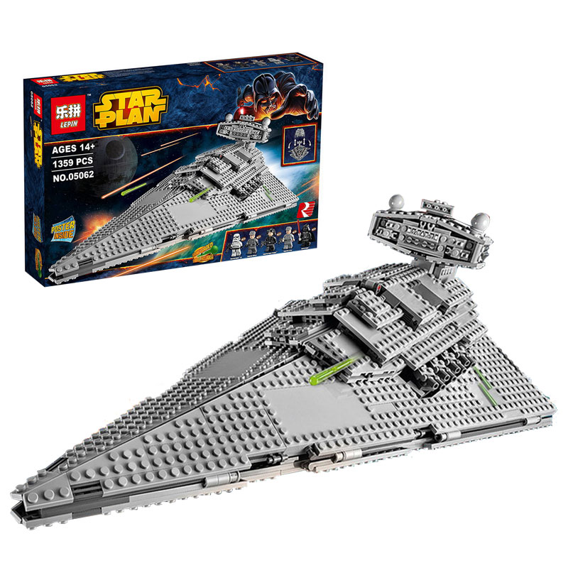 Lepin 05062 Star War Series The Imperial Super Star Destroyer Set Educational Building Blocks Bricks Compatible Toy Gift 75055 lepin 22001 pirate ship imperial warships model building block briks toys gift 1717pcs compatible legoed 10210